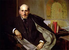 Portrait of Santiago Ramon y Cajal, 1906 by Sorolla y Bastida | Painting Reproduction