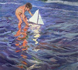 The Young Yachtsman | Sorolla y Bastida | Painting Reproduction