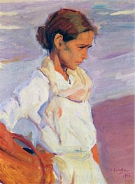 Valencian Fishergirl, 1916 by Sorolla y Bastida | Painting Reproduction