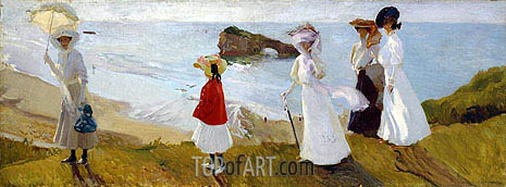 Sorolla y Bastida | Lighthouse Walk at Biarritz, 1906