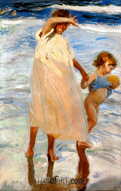 Two Sisters, Valencia, 1909 | Sorolla y Bastida | Painting Reproduction