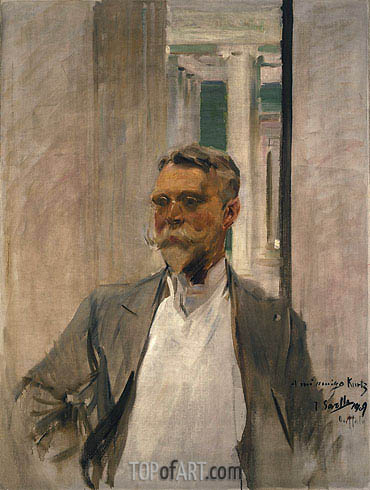 Portrait of Charles Kurtz, 1909 | Sorolla y Bastida | Painting Reproduction