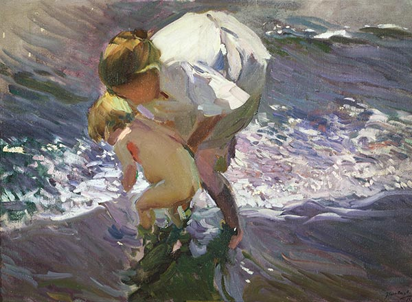 Sorolla y Bastida | Bathing on the Beach, 1908