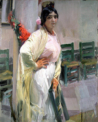 Maria, the Pretty One, 1914 | Sorolla y Bastida | Gemälde Reproduktion