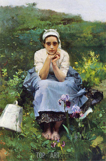 The Milkmaid,  | Sorolla y Bastida | Painting Reproduction