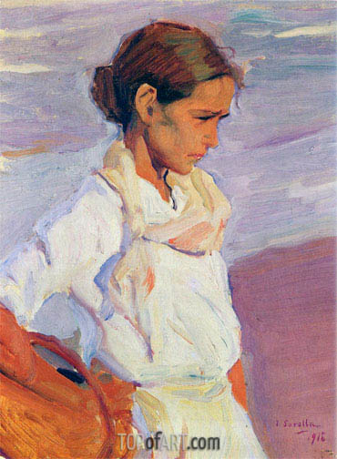 Valencian Fishergirl, 1916 | Sorolla y Bastida | Painting Reproduction