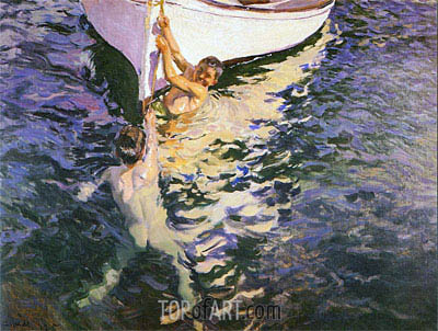 Sorolla y Bastida | The White Boat, 1905