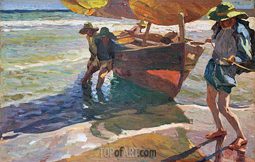 Sorolla y Bastida | Beaching Boats, undated