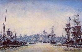 The Port of Marseille, 1881 by Jongkind | Painting Reproduction