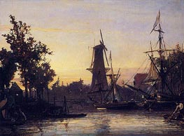 Binneshaven, Rotterdam, 1857 by Jongkind | Painting Reproduction