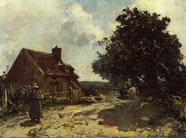 In the Vicinity of Nevers, 1861 by Jongkind | Painting Reproduction