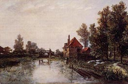 The Lock, 1863 by Jongkind | Painting Reproduction