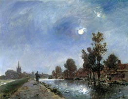 Towpath near Overschie | Jongkind | Painting Reproduction