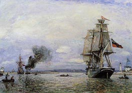 Leaving the Port of Honfleur | Jongkind | Painting Reproduction