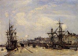 Honfleur, the Railroad Dock, 1865 by Jongkind | Painting Reproduction