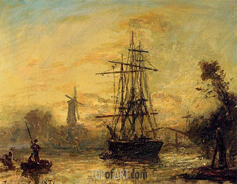 Rotterdam, 1871 | Jongkind | Painting Reproduction