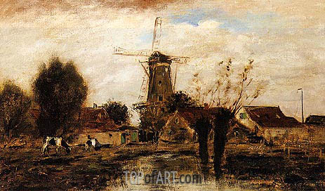 Jongkind | Landscape with Windmill, undated