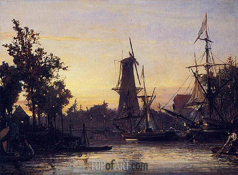 Binneshaven, Rotterdam, 1857 | Jongkind | Painting Reproduction