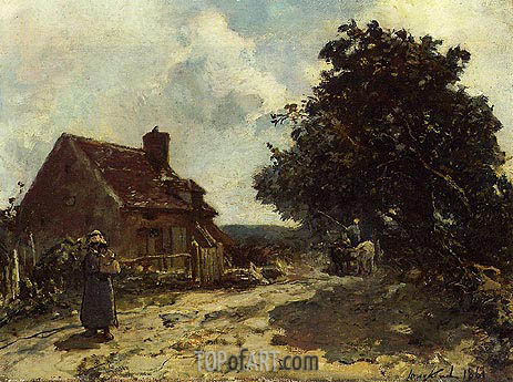 In the Vicinity of Nevers, 1861 | Jongkind | Painting Reproduction