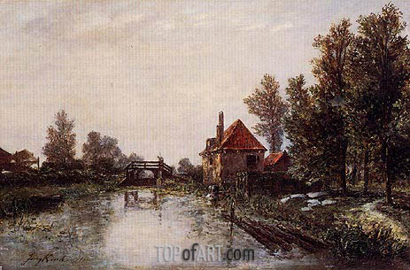 The Lock, 1863 | Jongkind | Painting Reproduction