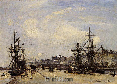 Honfleur, the Railroad Dock, 1865 | Jongkind | Painting Reproduction