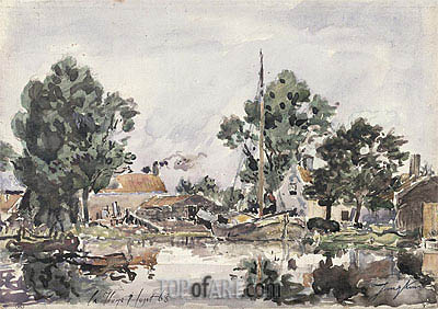A Canal in The Hague, 1868 | Jongkind | Painting Reproduction