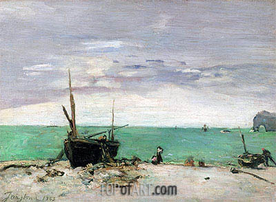 Etretat, 1865 | Jongkind | Painting Reproduction