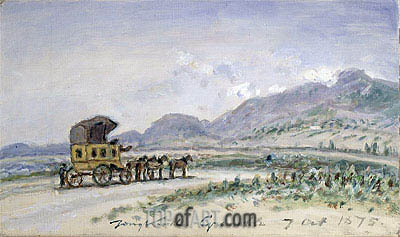 The Diligence from Grenoble to Sassenage, 1875 | Jongkind| Painting Reproduction