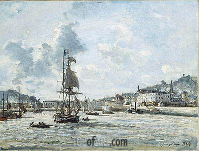 Entrance to the Port of Honfleur, 1864 | Jongkind | Painting Reproduction