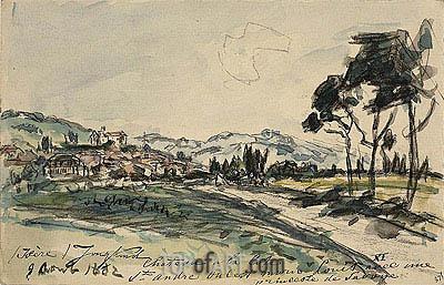 Jongkind | Chateau, Cote Saint Andre, 1882