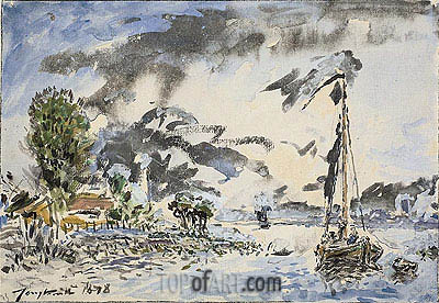 Fishing Boat, 1878 | Jongkind| Painting Reproduction