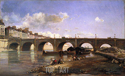 Le Pont de la Tournelle, Paris, 1859 | Jongkind | Painting Reproduction