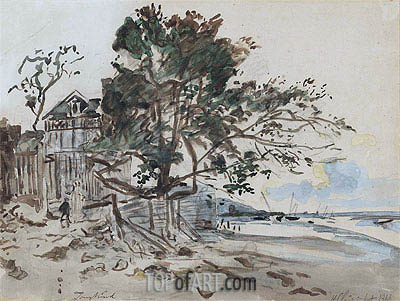 Landscape, St. Clair, 1864 | Jongkind | Painting Reproduction
