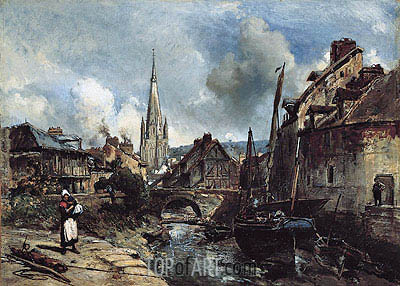 View of Harfleur, 1852 | Jongkind| Painting Reproduction