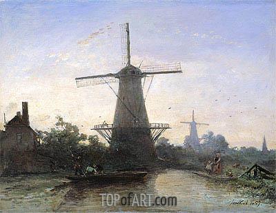 Jongkind | Mills at Rotterdam, 1857