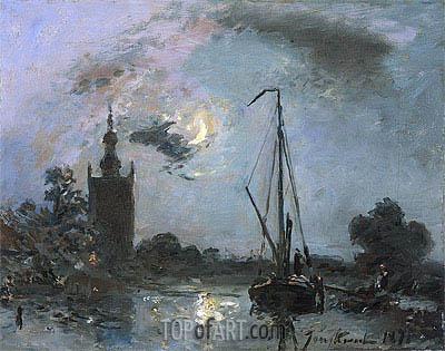 Jongkind | River Landscape at Overschie, 1871