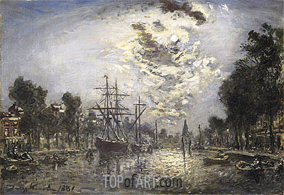 Rotterdam, 1881 | Jongkind| Painting Reproduction