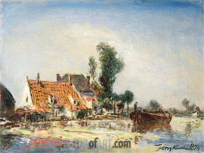 Houses at Crooswijk, 1874 | Jongkind| Painting Reproduction