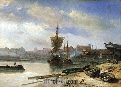 Shipyard, 1852 | Jongkind| Painting Reproduction