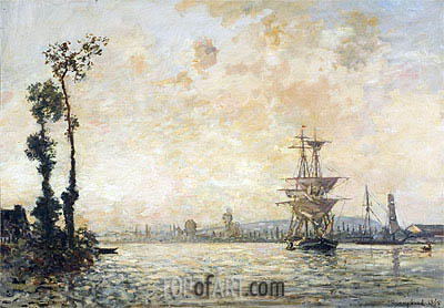 The Seine near Rouen, 1865 | Jongkind | Painting Reproduction