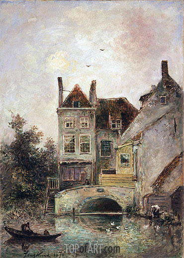 The Artist's House, Maassluis, 1871 | Jongkind| Painting Reproduction