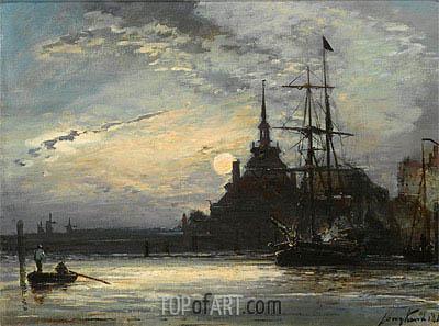 Jongkind | Sunset at the Hoofdpoort, Rotterdam, 1861