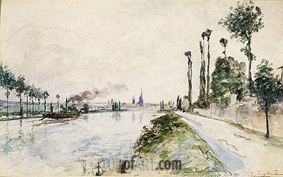 Rouen, 1863 | Jongkind| Painting Reproduction