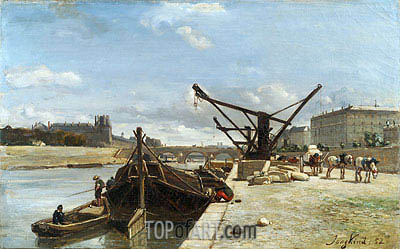 View of the Pont Royal, Paris, 1852 | Jongkind| Painting Reproduction