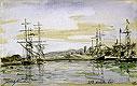 Harbor Scene | Johann Jongkind