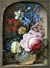Flowers in a Vase in a Stone Niche | Johann Adalbert Angermayer