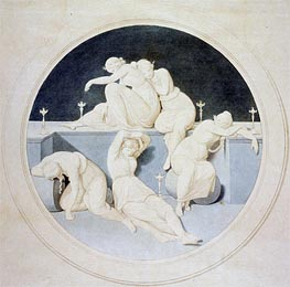 The Five Foolish Virgins Sleeping, c.1860 von Overbeck | Gemälde-Reproduktion
