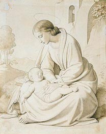 The Madonna and Child in a Landscape, undated von Overbeck | Gemälde-Reproduktion