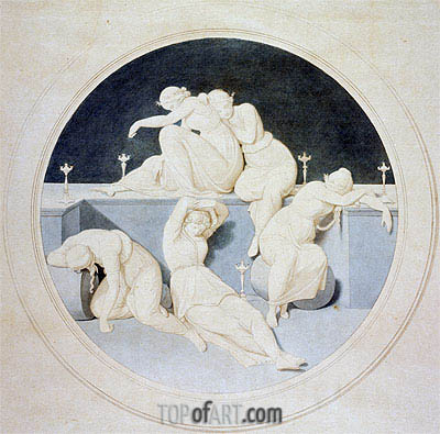 The Five Foolish Virgins Sleeping, c.1860 | Overbeck| Painting Reproduction