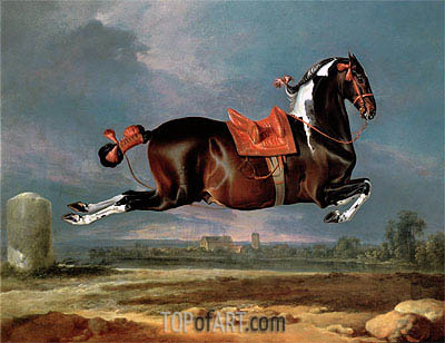 The Piebald Horse 'Cehero' Rearing,  | Johann Georg Hamilton | Painting Reproduction